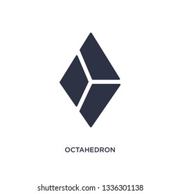 octahedron isolated icon. Simple element illustration from geometry concept. octahedron editable logo symbol design on white background. Can be use for web and mobile.