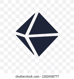 Octahedron transparent icon. Octahedron symbol design from Geometry collection. Simple element vector illustration on transparent background.