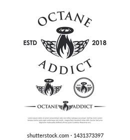 octane addict logo vector hipster modern