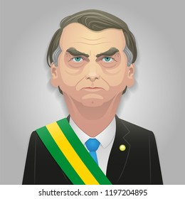 October 07, 2018 - Jair Bolsonaro caricature, Possibly the next president of Brazil