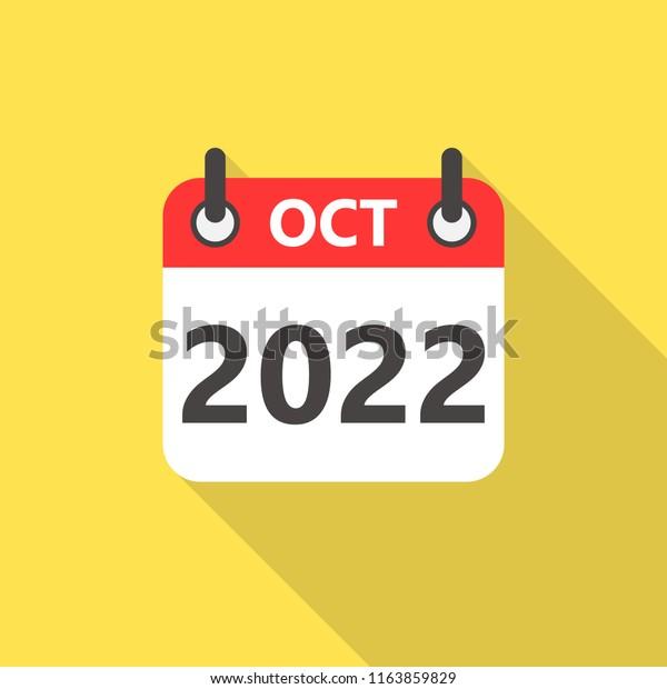 Free October 2022 Calendar.October 2022 Calendar Flat Style Icon Stock Vector Royalty Free 1163859829