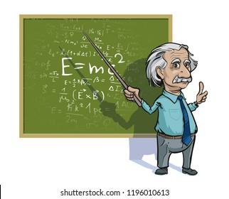 October 6, 2018: Portrait of Albert Einstein. Vector illustration. Editorial use only