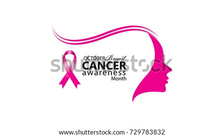 6e6346baf4bc6 October Breast Cancer Awareness Month Breast Cancer Stock Vector ...