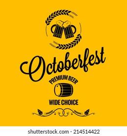 october fest beer design background