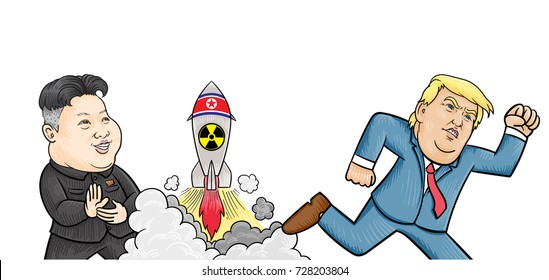 Trump Kim Cartoon Images, Stock Photos & Vectors | Shutterstock