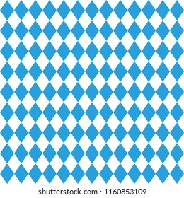 Octoberfest pattern. October munich fest background. Rhomb blue ornament. Seamless traditional German pattern