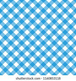 Octoberfest pattern. October munich fest background. Rhomb blue ornament. Seamless traditional German pattern