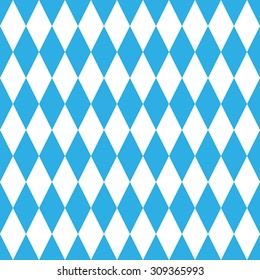 Octoberfest pattern. October munich fest background. Rhomb octoberfest blue ornament