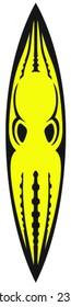Octopus aposematic surf / kayak / board design