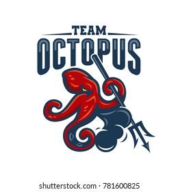 Octopus Attack Mascot Logo