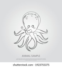 Octopus icon in trendy style isolated on grey background. Animal symbol for your web site design, logo, app, UI. Eps10 vector illustration.