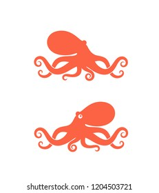 Octopus logo. Isolated octopus on white background.  EPS 10. Vector illustration