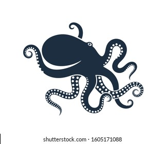 Octopus logo. Isolated octopus on white background