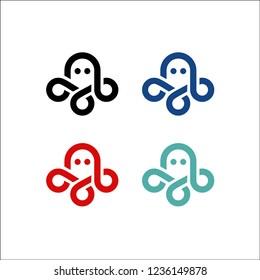 octopus logo kraken vector icon line art outline download