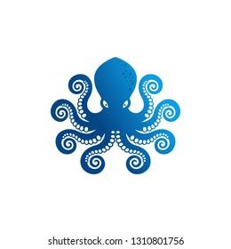 Octopus Logo Stock Vector