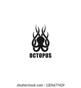 octopus logo template silhouette