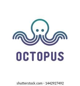 Octopus logo vector design inspiration