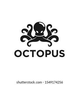 Octopus modern logo design simple minimalist design