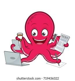 Octopus multitasking
