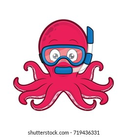 Octopus scuba diver