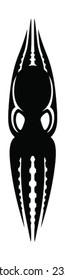 Octopus silhouette design