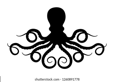 Octopus silhouette vector