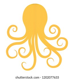 Octopus silhouette in vintage style on transparent background. Aquarium octopus vector icon. Octopus logo vector. Vector octopus illustration. Animal silhouette. Silhouette squid vector.