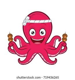 Octopus with takoyaki