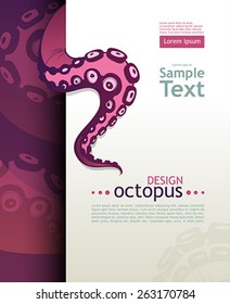 Octopus tentacle. Place for your text