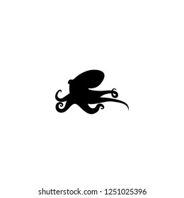 octopus vector icon. octopus sign on white background. octopus icon for web and app