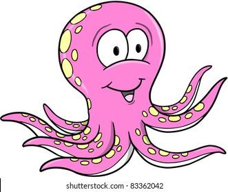 Octopus Vector Illustration Cartoon art