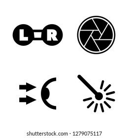 Oculist, Optometry. Simple Related Vector Icons Set for Video, Mobile Apps, Web Sites, Print Projects and Your Design. Oculist, Optometry icon Black Flat Illustration on White Background.