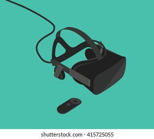 oculus rift glasses and equipment with vector style