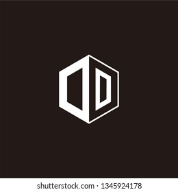 OD or DD or OOLogo Initial Monogram Negative Space Designs Templete