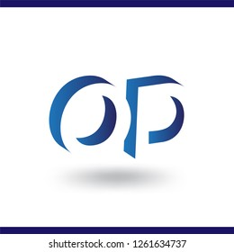 OD initial letter with negative space logo icon vector template