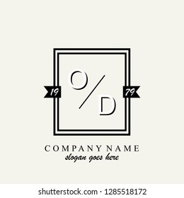 OD Initial logo template vector