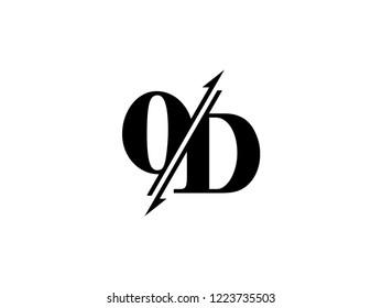OD initials logo sliced