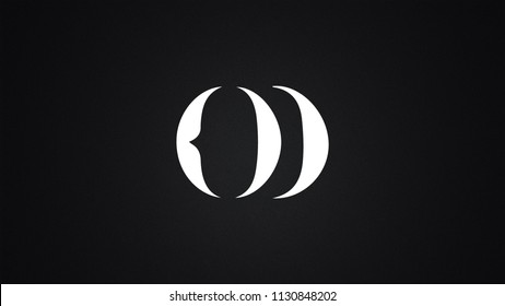 OD Letter  logo Design Template Vector
