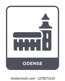 odense icon vector on white background, odense trendy filled icons from Buildings collection, odense vector illustration