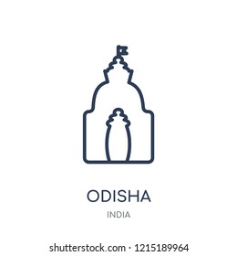 odisha icon. odisha linear symbol design from India collection. Simple outline element vector illustration on white background.