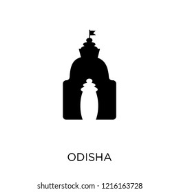 odisha icon. odisha symbol design from India collection. Simple element vector illustration on white background.