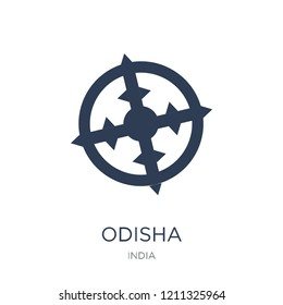 odisha icon. Trendy flat vector odisha icon on white background from india collection, vector illustration can be use for web and mobile, eps10