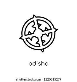 odisha icon. Trendy modern flat linear vector odisha icon on white background from thin line india collection, editable outline stroke vector illustration