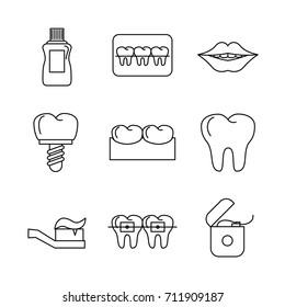 Odontology icons set