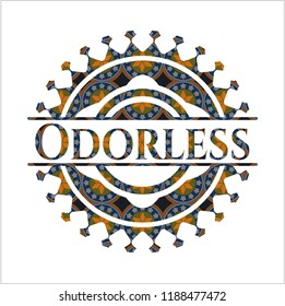 Odorless arabesque style badge. arabic decoration.