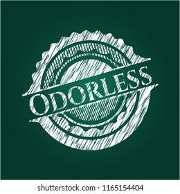 Odorless chalkboard emblem