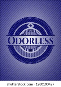 Odorless emblem with jean texture