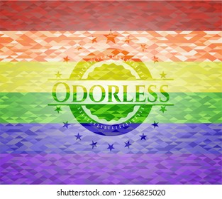 Odorless lgbt colors emblem