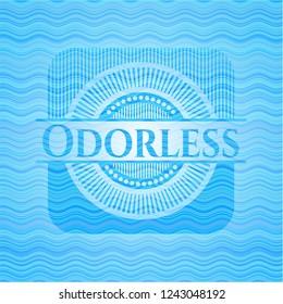 Odorless light blue water style emblem.