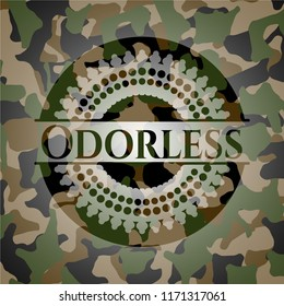 Odorless on camo pattern